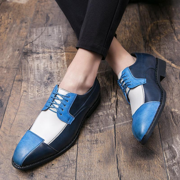Colorblock Leather Shoes