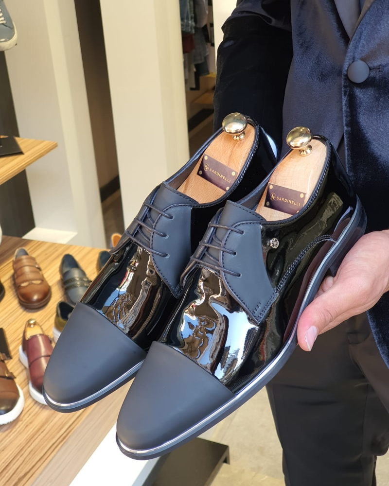 Men's Stitching Leather Shoes Office Shoes