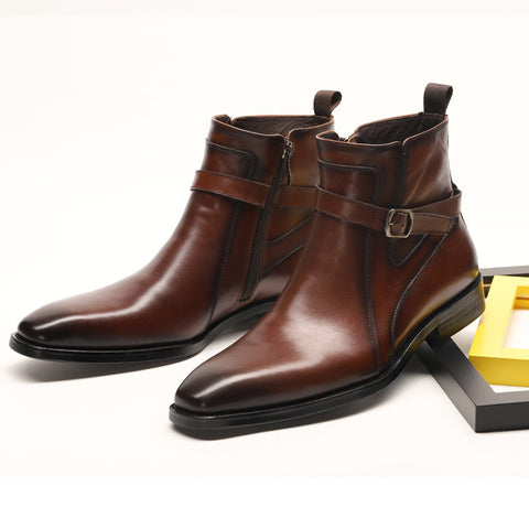 British Chelsea Cowhide Leather Boots