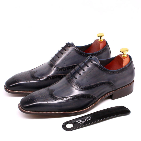 2020 Genuine Leather Oxford Shoes