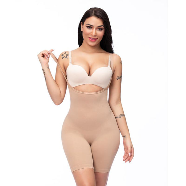 Firm Control Open-bust Bodysuit