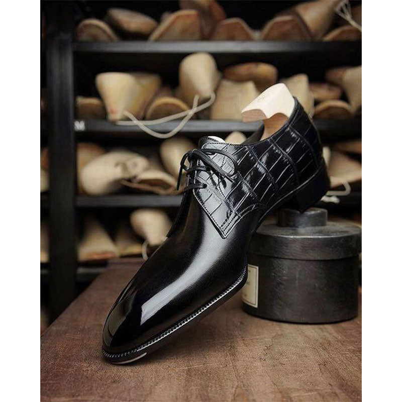 Men's Fashion Check Lace Up Shoes