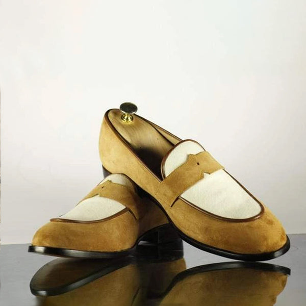 Suede Classic Yellow Loafer For Men