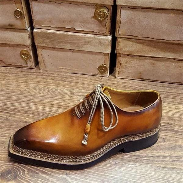 Men's Vintage Square Toe Oxford Shoes