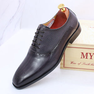 Men's Carved Handmade Leather Shoes