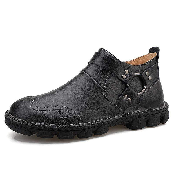Men's Plus Size Chelsea Tooling Martin Boots