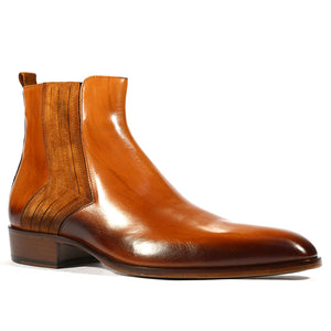 Men's Brown Fashion Leather Boots