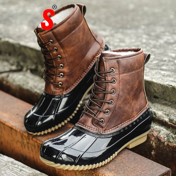 New lace-up shoes fur winter women's boots