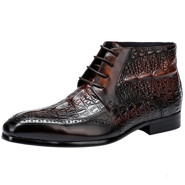 Chelsea Alligator Leather Men's Boots