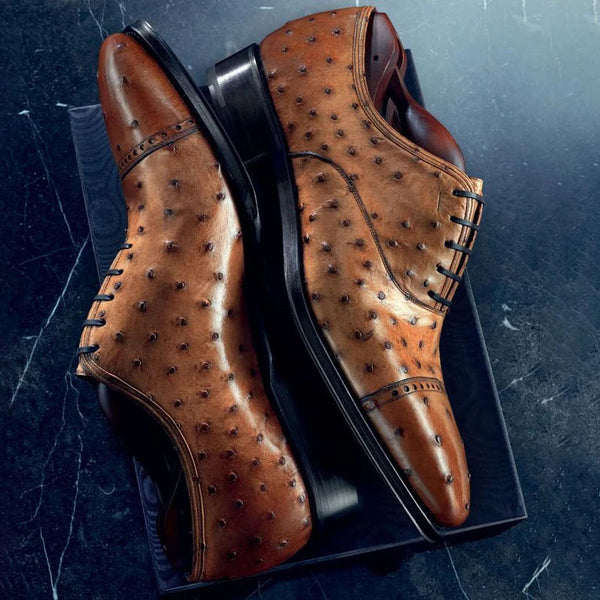 Men's Ostrich Leather Trend Shoes