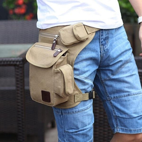 Fashion Multifunction Outdoor Sport Leg Bag Canvas Waist Bag