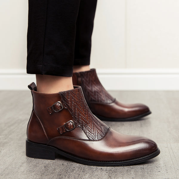 Men Buckle Anckle Boot