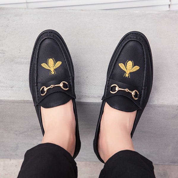Luxury Bee Buckle Dress Shoes