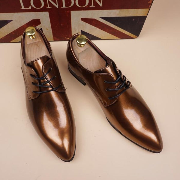 Leather Italian Mens Shoes Casual Luxury - Arceey