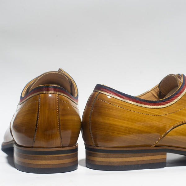 Men Patent Leather Shoes Italy Design