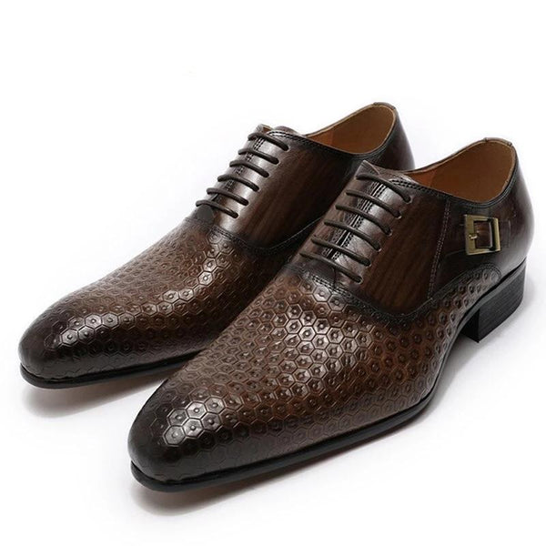 Geometric Prints Men Office Wedding Shoes