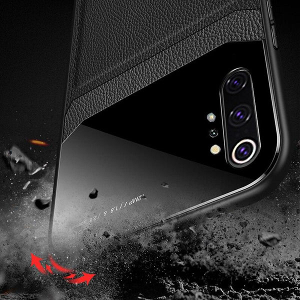 Leather Shockproof Case for S10/Note10 + Free Screen Protector Film