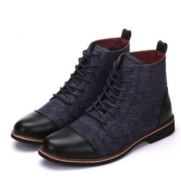 Fashion large size men's casual ankle boots