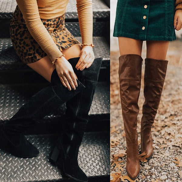 Suede Slim Boots Sexy Over The Knee High Women Boots