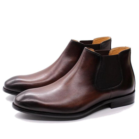 Autumn Winter Men Chelsea Boots Genuine Leather