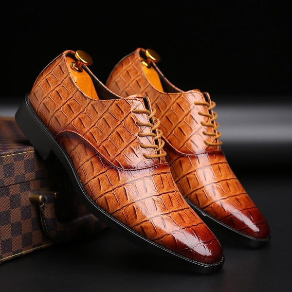 Crocodile Pattern  men Business Leather Shoes