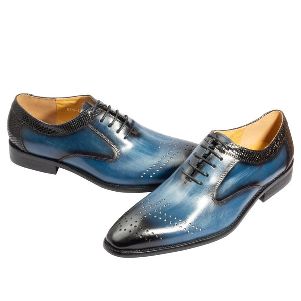 Handmade Genuine Leather Mens Shoes mixed color