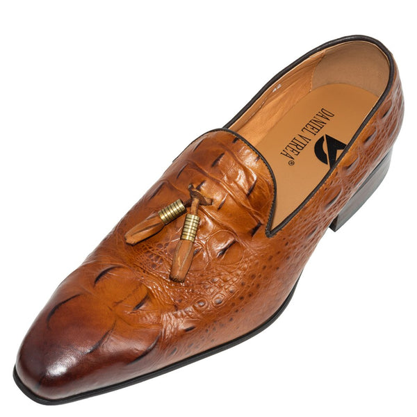 Men Casual Genuine Leather Slip-on Dress Shoes