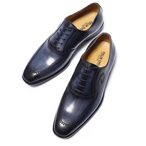 Men Genuine Leather Office Formal Wedding Shoes