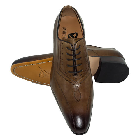 Formal Pointed Toe Solid Oxford Genuine Leather Mens Shoe
