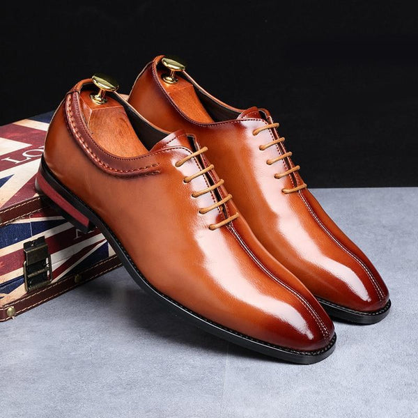 2019 Newest Men Dress Shoes Businesn Party Leather Shoes