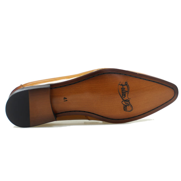 Genuine Leather Slip On Tassel Loafers