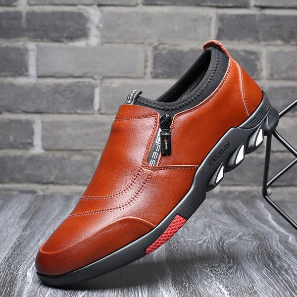 Men Leather Shoes Slip On Comfortable