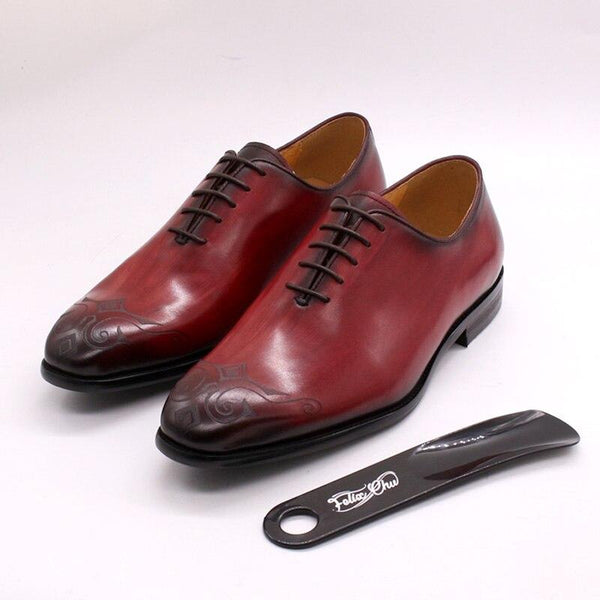 Whole Cut Hand Painted Wedding Formal Shoes