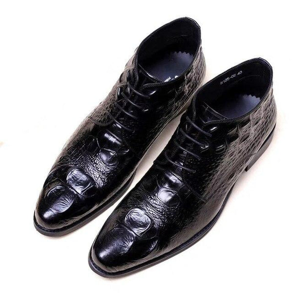 Autumn Winter Crocodile Men Dress Shoes