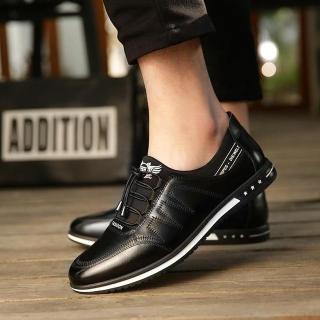 2019  Fashion Men's Casual Leather Shoes