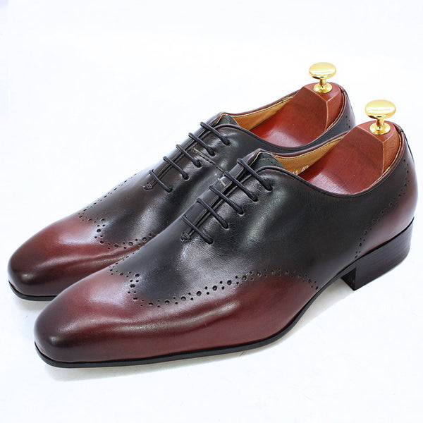 Handmade Classic Carved Oxford Shoes