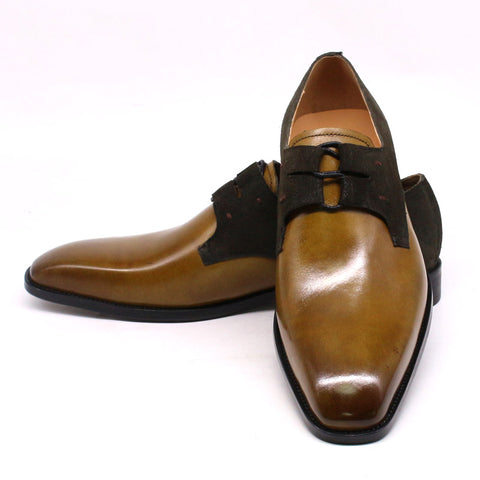 Mens Formal Genuine Suede Lace Up Oxfords