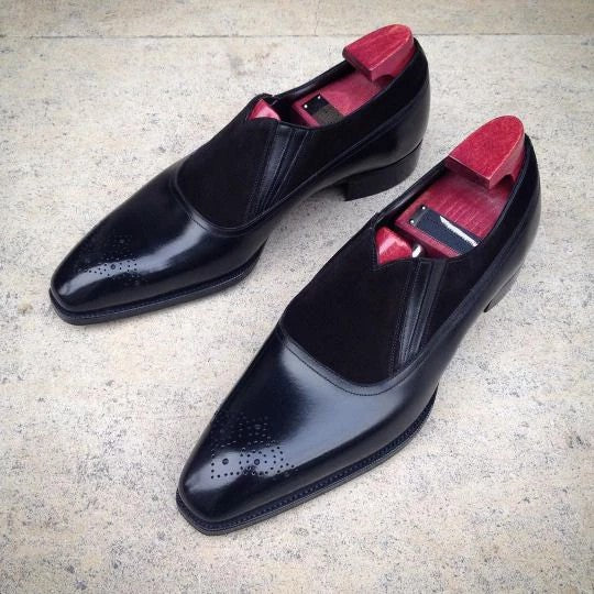 Splice Suede Loafers