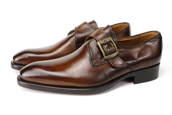 Side Buckle Leather Business  Men Shoes