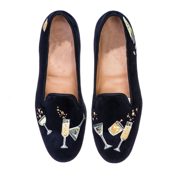 Fashion Design Wineglass Pattern loafer Shoes