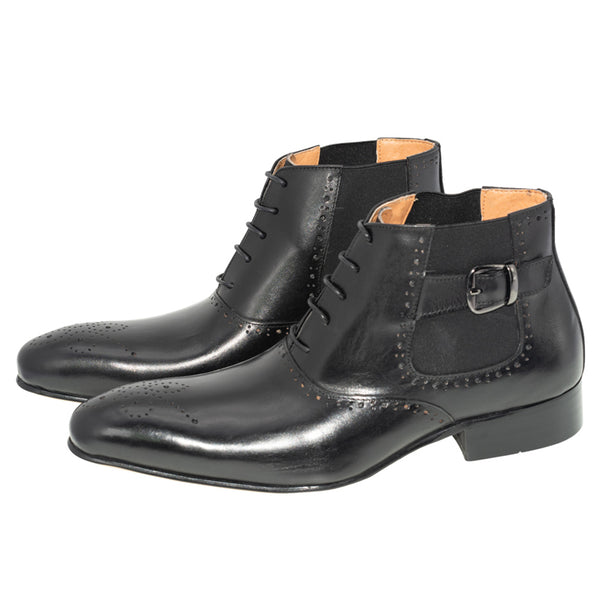 Men's Italian Lace Up Chelsea Boots