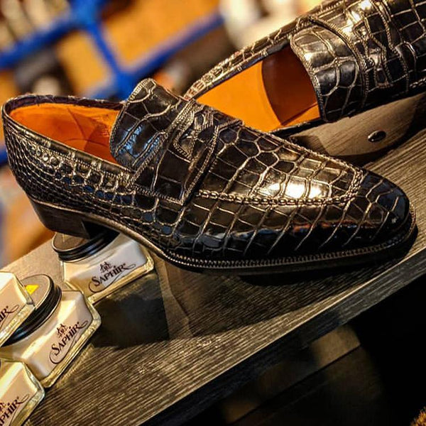Men's Crocodile Leather Loafers