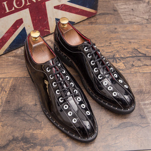 Fashion new trendy men's leather shoes
