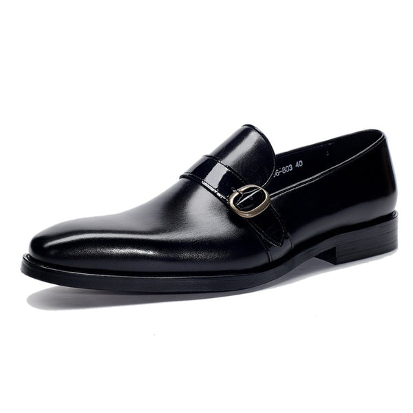 Men Cow Leather Slip On Loafer Shoes