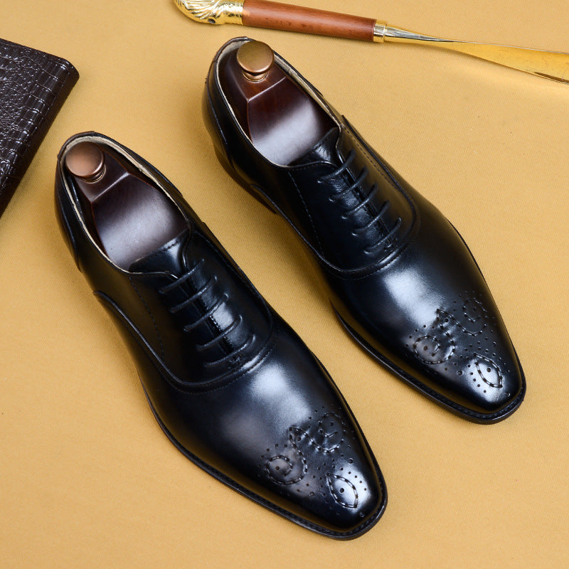 British Print Lace Up Oxford Shoes