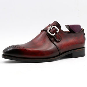 Genuine Leather Monk Shoes