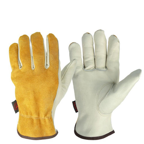 Cowhide Leather Men Working Welding  Safety Protective Gloves