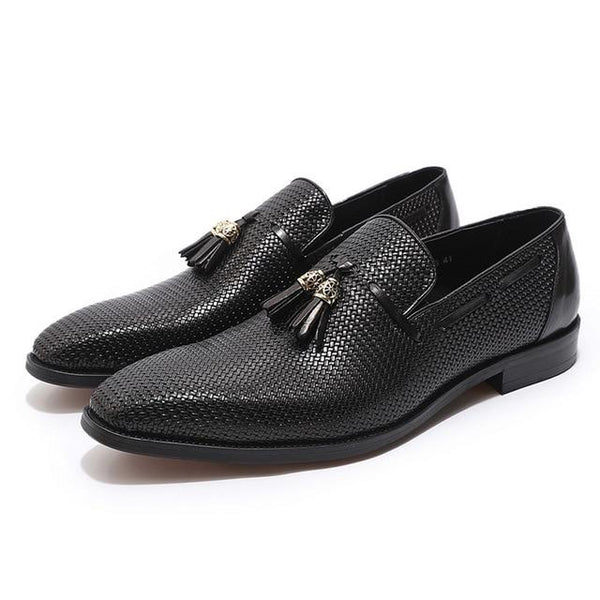 Genuine Leather Men Wedding Party Loafers