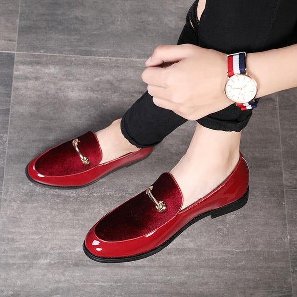 Patent Leather Pointed Toe Dress Shoes