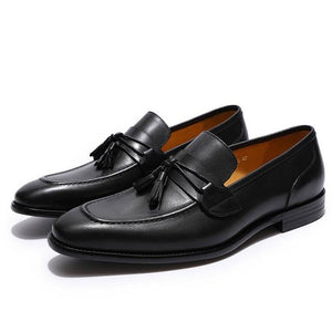 Comfortable Mens Tassel Penny Loafers